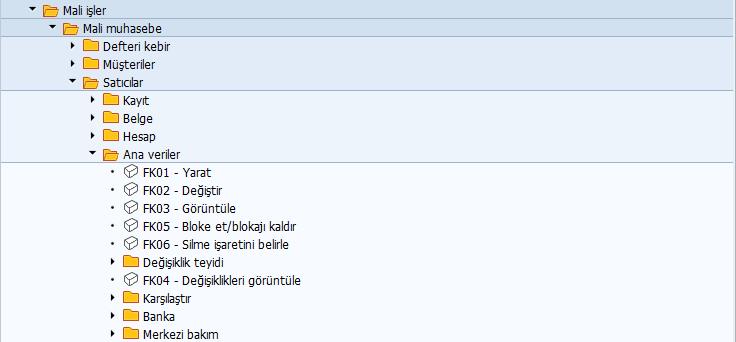 SAP FI FK01 Burak Şentürk